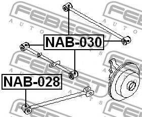Подвеска, рычаг независимой подвески колеса FEBEST арт. NAB030