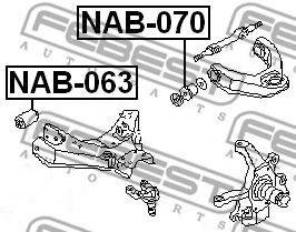 Подвеска, рычаг независимой подвески колеса FEBEST арт. NAB070