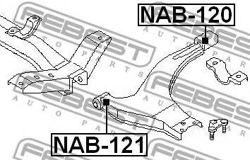 Подвеска, рычаг независимой подвески колеса FEBEST арт. NAB121
