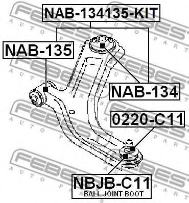 Подвеска, рычаг независимой подвески колеса FEBEST арт. NAB134