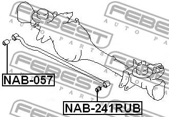 Подвеска, рычаг независимой подвески колеса FEBEST арт. NAB241RUB