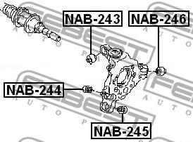 Втулка, рычаг колесной подвески FEBEST арт. NAB246