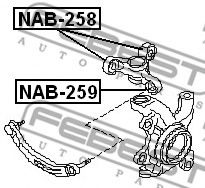 Втулка, рычаг колесной подвески FEBEST арт. NAB258