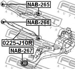 Подвеска, рычаг независимой подвески колеса FEBEST арт. NAB265