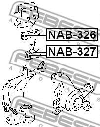 Подвеска, рычаг независимой подвески колеса FEBEST арт. NAB327