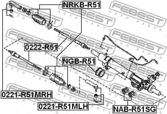 Подвеска, рулевое управление FEBEST арт. NABR51SG