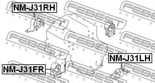 Подвеска, двигатель FEBEST арт. NMJ31FR