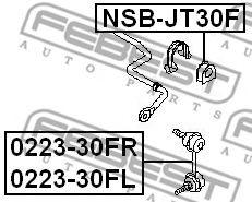 Опора, стабилизатор FEBEST арт. NSBJT30F