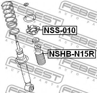 Защитный колпак / пыльник, амортизатор FEBEST арт. NSHBN15R