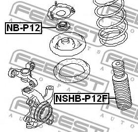 Защитный колпак / пыльник, амортизатор FEBEST арт. NSHBP12F