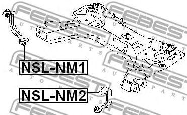 Тяга / стойка, стабилизатор FEBEST арт. NSLNM1