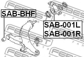 Подвеска, рычаг независимой подвески колеса FEBEST арт. SAB001L