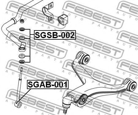 Тяга / стойка, стабилизатор FEBEST арт. SGSB002