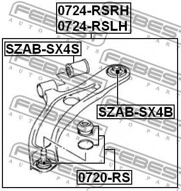 Подвеска, рычаг независимой подвески колеса FEBEST арт. SZABSX4S