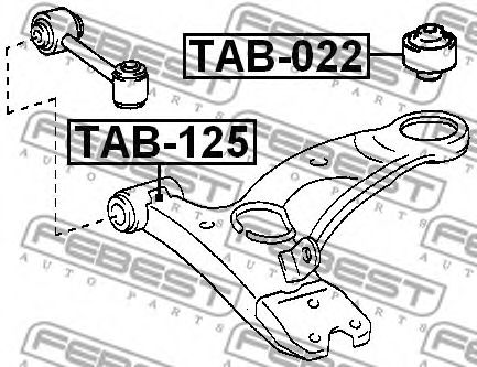 Подвеска, рычаг независимой подвески колеса FEBEST арт. TAB125