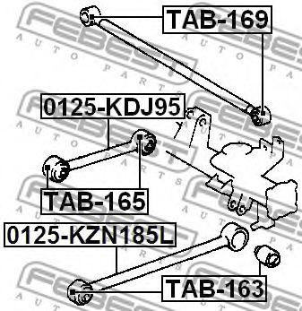 Подвеска, рычаг независимой подвески колеса FEBEST арт. TAB165