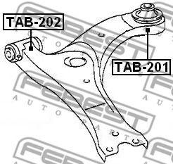 Подвеска, рычаг независимой подвески колеса FEBEST арт. TAB202