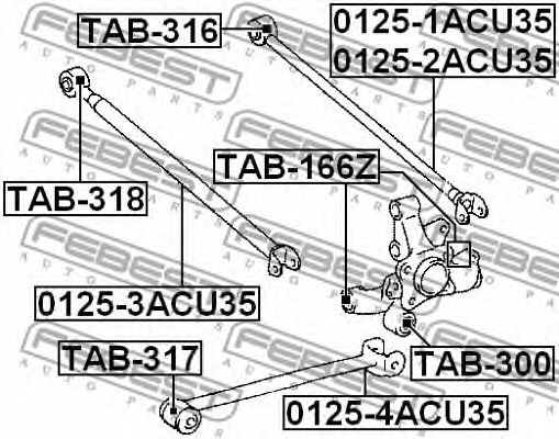 Подвеска, рычаг независимой подвески колеса FEBEST арт. TAB318