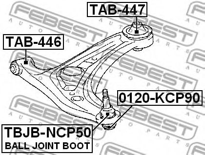 Подвеска, рычаг независимой подвески колеса FEBEST арт. TAB447