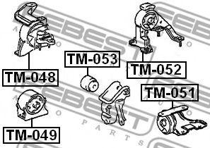 Подвеска, двигатель FEBEST арт. TM052