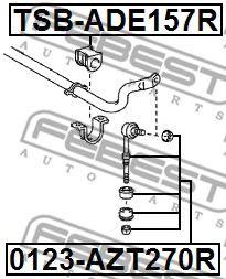Опора, стабилизатор FEBEST арт. TSBADE157R