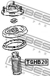 Защитный колпак / пыльник, амортизатор FEBEST арт. TSHB20