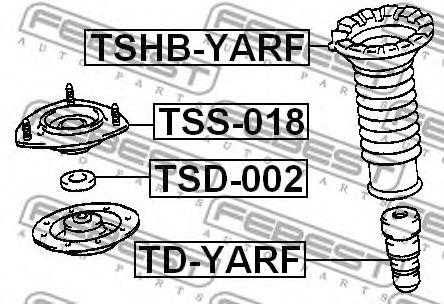Подвеска, амортизатор FEBEST арт. TSS018