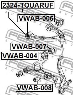 Подвеска, рычаг независимой подвески колеса FEBEST арт. VWAB008