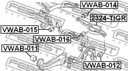 Подвеска, рычаг независимой подвески колеса FEBEST арт. VWAB015