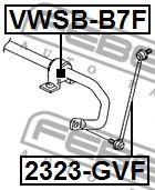 Опора, стабилизатор FEBEST арт. VWSBB7F