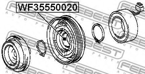 Оборудование для СТО Подшипник, компрессорный вал FEBEST арт. WF35550020