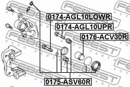 Направляющий болт, корпус скобы тормоза FEBEST арт. 0174AGL10UPR