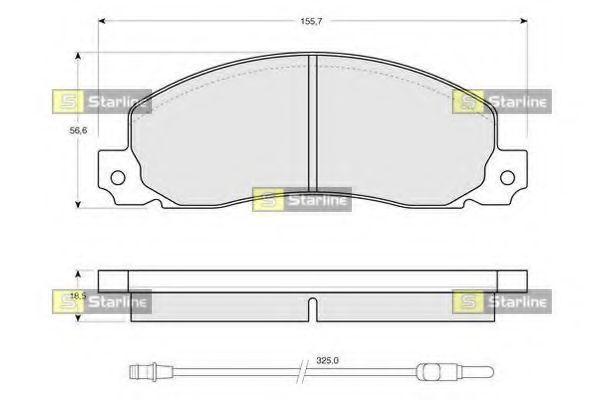 Комплект тормозных колодок, дисковый тормоз STARLINE арт. BDS146