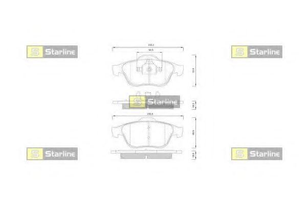 Комплект тормозных колодок, дисковый тормоз STARLINE арт. BDS825P