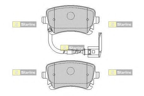 Комплект тормозных колодок, дисковый тормоз STARLINE арт.