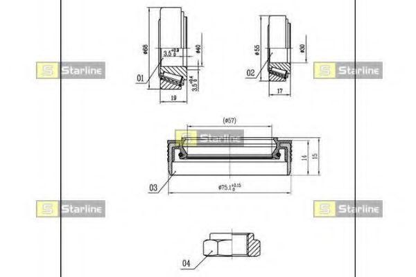 Комплект подшипника ступицы колеса STARLINE арт.