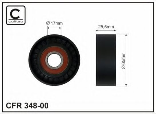 Паразитный / ведущий ролик, поликлиновой ремень CAFFARO арт.