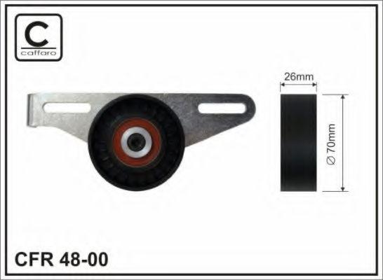 Натяжитель ремня, клиновой зубча CAFFARO арт. 4800