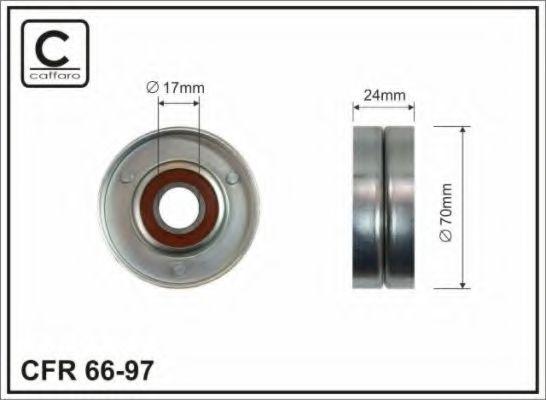 Натяжной ролик, поликлиновой  ремень CAFFARO арт.