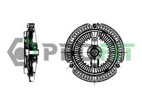 Сцепление, вентилятор радиатора PROFIT арт. 17203018
