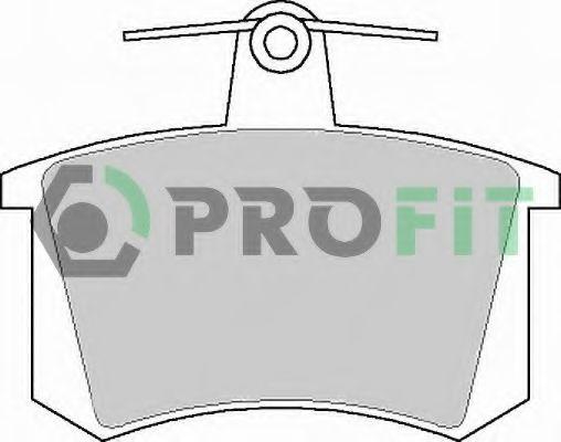 Комплект тормозных колодок, дисковый тормоз PROFIT арт. 50000222