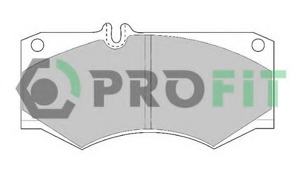 Комплект тормозных колодок, дисковый тормоз PROFIT арт. 50000239