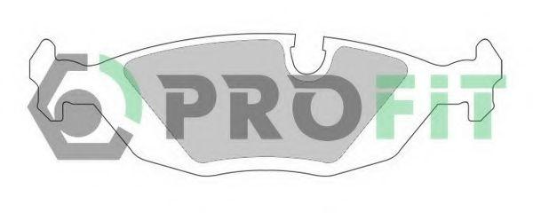 Комплект тормозных колодок, дисковый тормоз PROFIT арт. 50000296