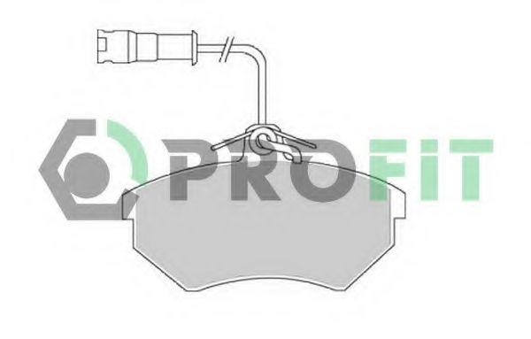 Комплект тормозных колодок, дисковый тормоз PROFIT арт. 50000954