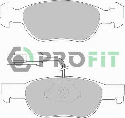 Комплект тормозных колодок, дисковый тормоз PROFIT арт. 50001040