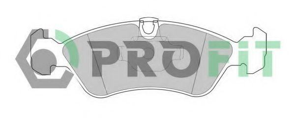 Комплект тормозных колодок, дисковый тормоз PROFIT арт. 50001067