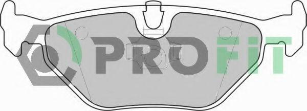Комплект тормозных колодок, дисковый тормоз PROFIT арт. 50001301