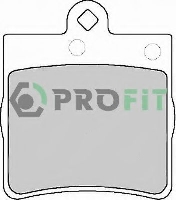 Комплект тормозных колодок, дисковый тормоз PROFIT арт.