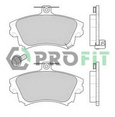 Комплект тормозных колодок, дисковый тормоз PROFIT арт. 50001384