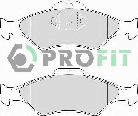 Комплект тормозных колодок, дисковый тормоз PROFIT арт. 50001393